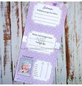 Krikštynų žaidimų kortelė 4in1 (Rožinis drambliukas)