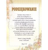 Padėka auklėtojai lenkų kalba