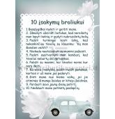 10 įsakymų broliukui