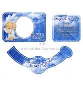 Personalizuota krikštynų šampano etiketė (EK-20)