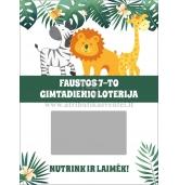 """Loterijos bilietai """"Džiunglių gyvūnai"""""""