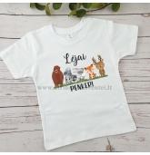 """Gimtadienio marškinėliai """"Miško gyvūnai"""""""