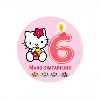 """Ženkliukas """"Mano gimtadienis"""" Hello Kitty 6m."""