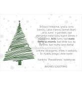 Kalėdinis sveikinimas - atvirukas (KAL-14)