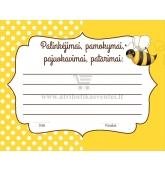 Palinkėjimų, pamokymų, patarimų kortelė