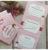 Krikštynų žaidimų kortelė 3in1 (rožinė)