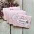 Krikštynų žaidimų kortelė 4in1 (rožinė)