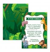 Kvietimai į gimtadienį Džiunglių tema