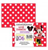 """Gimtadienio kvietimai """"Minnie Mouse"""""""