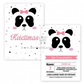 """Vaiko gimtadienio kvietimas """"Panda"""""""