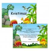 """Kvietimas į gimtadienį """"Dinozaurai"""""""