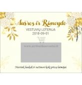 """Personalizuota vestuvių loterija """"Gėlės"""""""