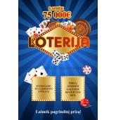 Loterijos bilietas-2 laukeliai (M)