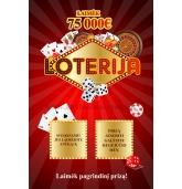 Loterijos bilietas-2 laukeliai (R)