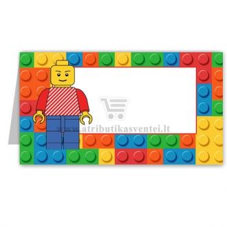 "Stalo kortelė ""Lego"""