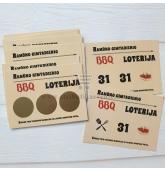 Loterijos bilietai Barbeque tema