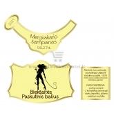 Mergvakario pakvietimas - šampano etiketė (MER-27)