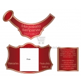 Mergvakario šampano etiketė (MER-29)