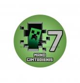 Gimtadienio ženkliukas - Minecraft 7m.
