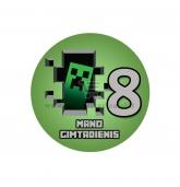 Gimtadienio ženkliukas - Minecraft 8m.