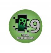 Gimtadienio ženkliukas - Minecraft 9m.