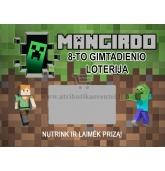 """Loterijos bilietai """"Minecraft"""""""