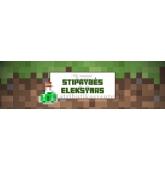 """Minecraft gitadienio etiketė """"Stiprybės eleksyras"""""""