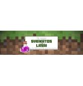 """Minecraft gitadienio etiketė """"Sveikatos lašai"""""""