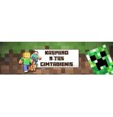 Personalizuota Minecraft gitadienio etiketė