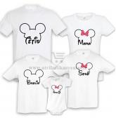 """Marškinėliai šeimai """"Mickey Mouse"""" tema"""