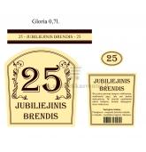 """Etiketė """"Jubiliejinis brendis-25"""""""