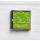 Anspaudų dažų pagalvėlė - Alyvuogė