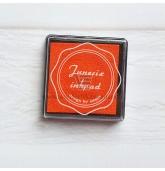 Anspaudų dažų pagalvėlė - Oranžinė