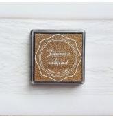 Anspaudų dažų pagalvėlė - Auksinė