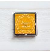 Anspaudų dažų pagalvėlė - Geltona