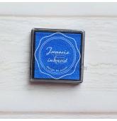 Anspaudų dažų pagalvėlė - Mėlyna
