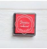 Anspaudų dažų pagalvėlė - Rausva