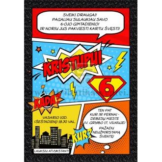 """Kvietimai """"Superherojai"""""""