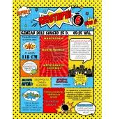 Gimtadienio metraštis Superherojų tema-geltonas