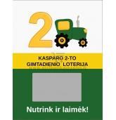 """Gimtadienio loterijos bilietai """"Traktoriai"""""""