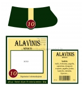 Alavinių vestuvių viskio etiketė (VMALAV-03)