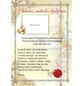 Auksinių vestuvių liudijimas (VMAUK-01)
