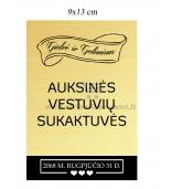 Auksinių vestuvių vyno etiketė (VMAUK-08)