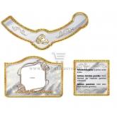 Auksinių vestuvių šampano etiketė (VMAUK-11)