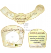 Auksinių vestuvių šampano etiketė (VMAUK-12)