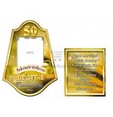 Auksinių vestuvių metinių etiketė (VMAUK-15)
