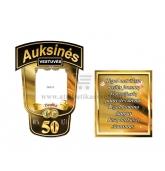 Auksinių vestuvių metinių etiketė (VMAUK-16)