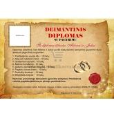 Deimantinių vestuvių diplomas (VMDEIM-01)