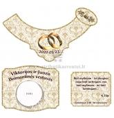 Deimantinių vestuvių šampano etiketė (VMDEIM-04)