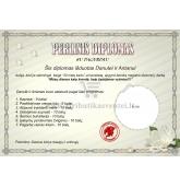 Perlinių vestuvių diplomas (VMPERL-01)